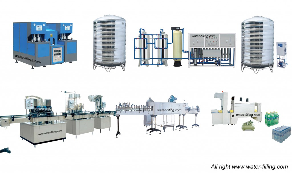 Semi-Automatic Water Bottling Line