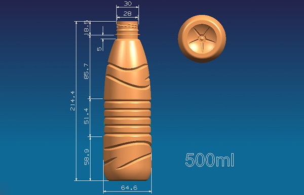 500ml bottled design