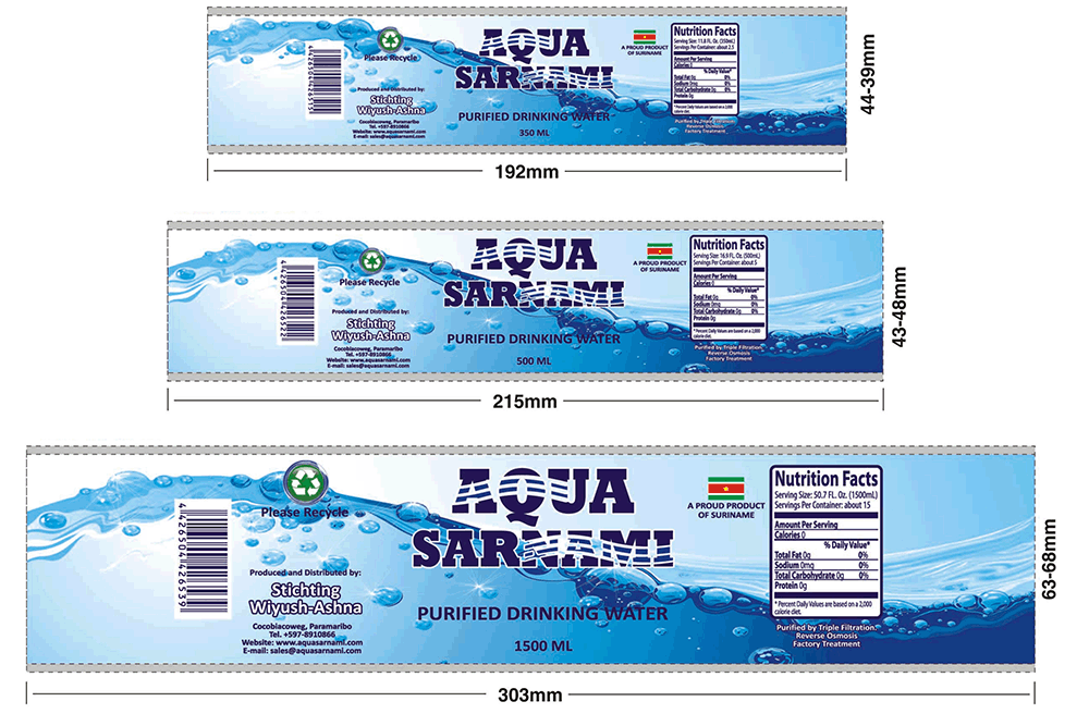 Pre sales free design for Mineral water label template